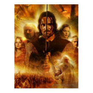 LOTR: Cartel de película de ROTK Aragorn Postal