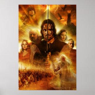 LOTR: Cartel de película de ROTK Aragorn Póster