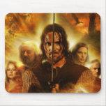 LOTR: Cartel de película de ROTK Aragorn Alfombrilla De Ratón