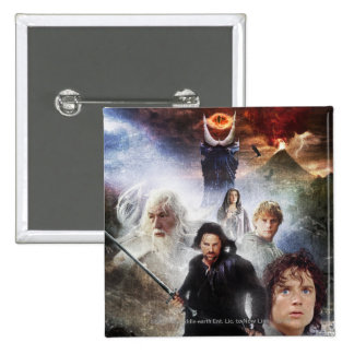 LOTR Character Collage Button