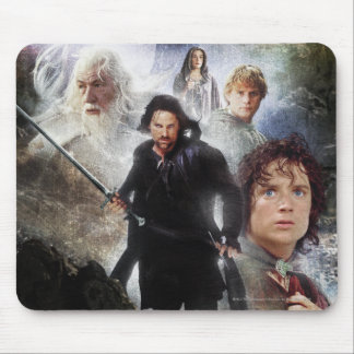 LOTR Character Collage Mouse Pad