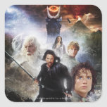 LOTR Character Collage Square Sticker