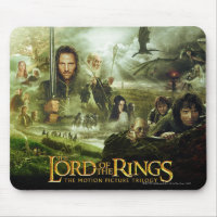 LOTR Movie Poster Art Mouse Pad