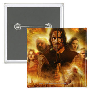 LOTR: ROTK Aragorn Movie Poster Button