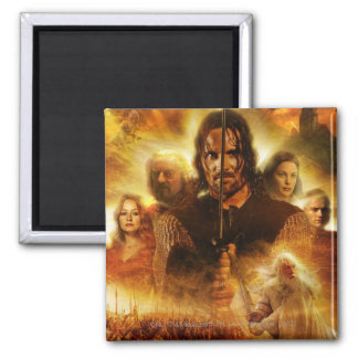 LOTR: ROTK Aragorn Movie Poster 2 Inch Square Magnet