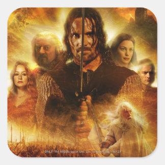 LOTR: ROTK Aragorn Movie Poster Square Sticker