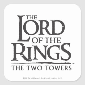 LOTR Stacked Logo Square Sticker