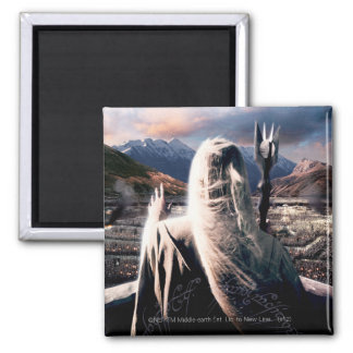 LOTR: TT Saruman Movie Poster 2 Inch Square Magnet