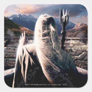 LOTR: TT Saruman Movie Poster Square Sticker