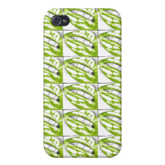 Lots-a-lips Green iphone4 case (Hot Lips)