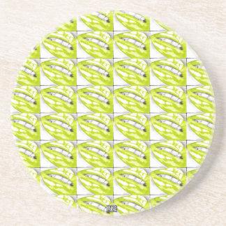 Lots-a-Lips (Lime) Coaster (Hot Lips)
