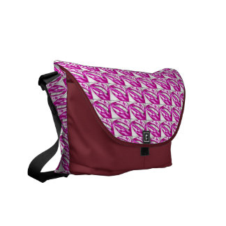 Lots-a-lips (Magenta) Courier Bag