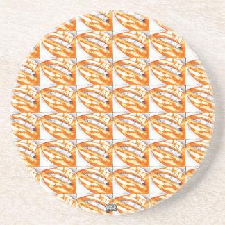 Lots-a-Lips  (Orange) Coaster (Hot Lips)