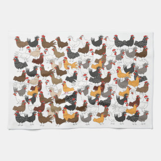 Lots and Lots of Chickens - Kitchen Towel