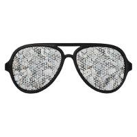 Lots And Lots Of Seashells Aviator Sunglasses