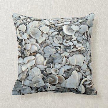Lots And Lots Of Seashells Throw Pillow