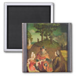 Lot's daughters make their Father drink Wine 2 Inch Square Magnet