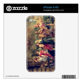 Lot's Family Leaving Sodom, 1625 (oil on panel) Decals For The iPhone 4S