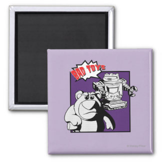 Lots-O'-Huggin' Bear & Sparks: Bad Toys 2 Inch Square Magnet