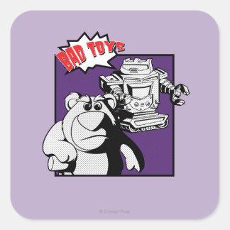 Lots-O'-Huggin' Bear & Sparks: Bad Toys Square Sticker