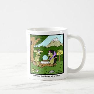 Lots of Babies: Rabbit Cartoon Coffee Mug