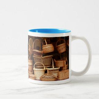 Lots of Baskets Two-Tone Coffee Mug
