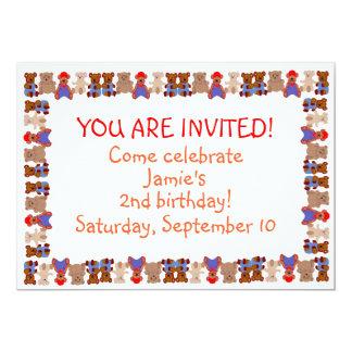 Lots of Bears Birthday Invitation