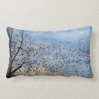 Lots Of Birds Lumbar Pillow