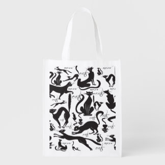 Lots of Black Cats Grocery bag