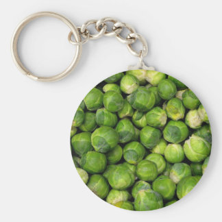 Lots of Brussels Sprouts Basic Round Button Keychain