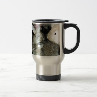 Lots of Bunny Rabbits Real Animal Photo Travel Mug