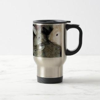 Lots of Bunny Rabbits Real Animal Photo Travel Mug
