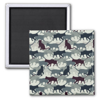 Lots of Cats 2 Inch Square Magnet