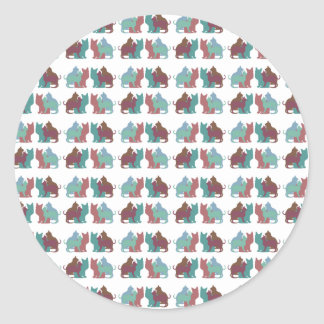 Lots of Cats Classic Round Sticker