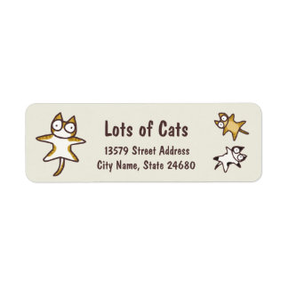 Lots of Cats Label