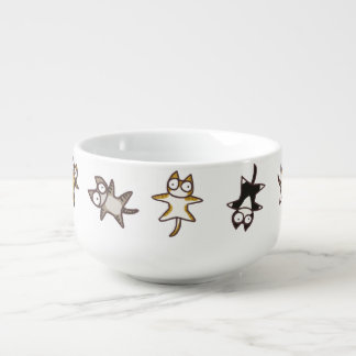 Lots of cats soup mug
