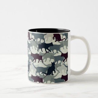 Lots of Cats Two-Tone Coffee Mug