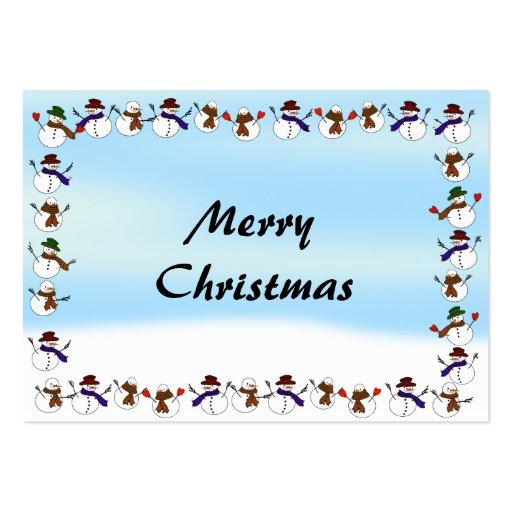 Lots of  Christmas Cartoon Snowmen Business Card Templates