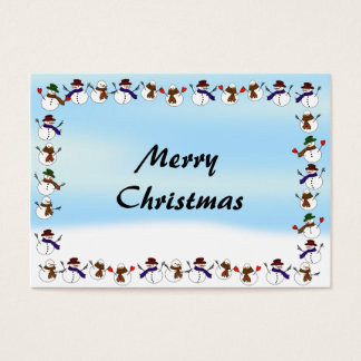 Lots of  Christmas Cartoon Snowmen Business Card