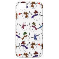Lots of  Christmas Cartoon Snowmen iPhone 5 Cover