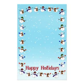 Lots of  Christmas Cartoon Snowmen Stationery