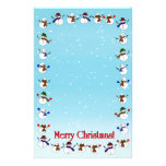 Lots of  Christmas Cartoon Snowmen Stationery Paper