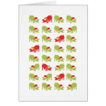 Lots of Christmas Pigs Card