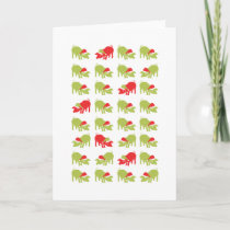 Lots of Christmas Pigs Holiday Card