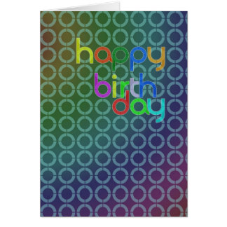 Lots of circles birthday card