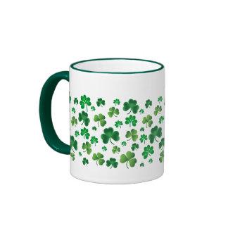 Lots of Cloverleaves Ringer Coffee Mug