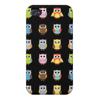 Lots of Colorful Cute Owls Pattern iPhone 4/4S Cover