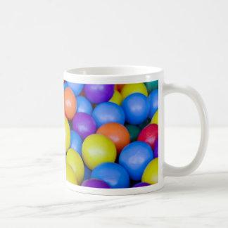 Lots of colorful plastic balls coffee mug