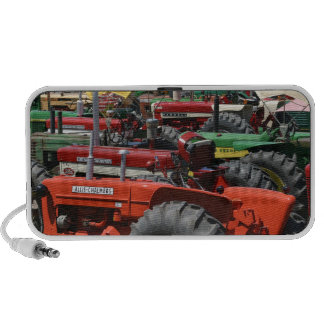 Lots of Colorful Tractors MP3 Speakers