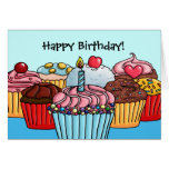 Lots of cupcakes birthday card
